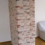 Wandverkleidung mit Steinriemchen