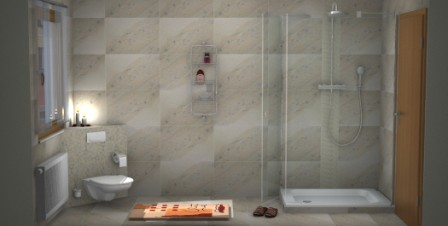 Badplanung mit unicom starker natural slate winter - 3d badezimmerplaner ...