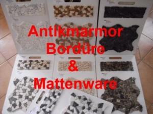 Antikmarmor Bordüre und Matten