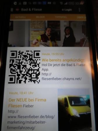 Informationen auf dem Smartphone
