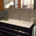 Waschtischanlage mit Spiegelschrank