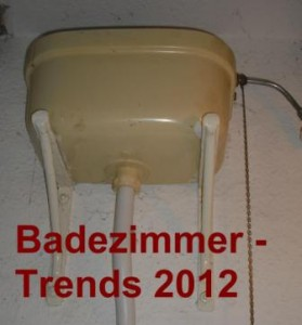 Sanitr und Badezimmer Trends 2012