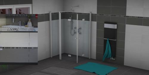 Gestaltung des Badezimmers in 3D