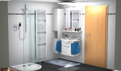 Bad mit Waschtischanlage