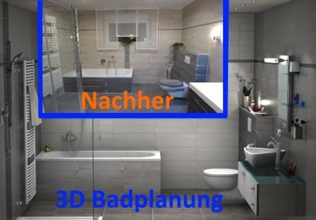 3D Badplanung und Fertigstellung des Badezimmers