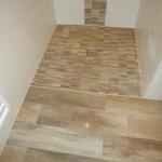 Bodengleiche Dusche mit Stäbchenmosaik