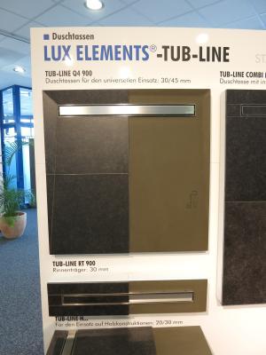 Tub Line Duschelement mit Duschrinne