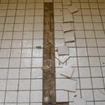 Mosaikfliesen auf Spanplatte