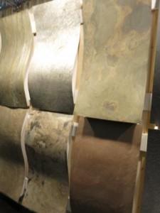 dünne Natur-Dünnschieferplatten sind auch für Rundungen geeignet