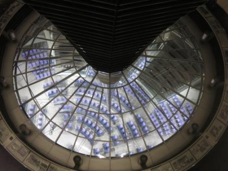 Der Bundestag. Sich aus der Kuppel