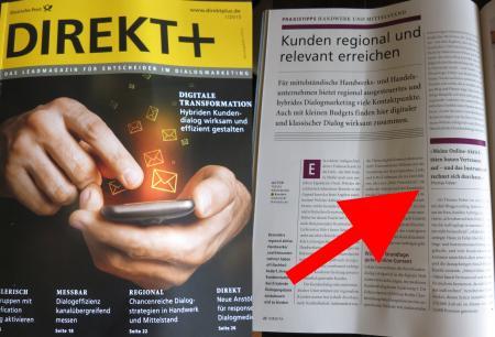 Fachmagazin Direkt Plus der deutschen Post