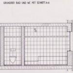 Fliesen Verlegeplan. Seitenansicht für Bad und WC