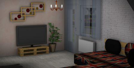 Fernsehschrank aus Paletten