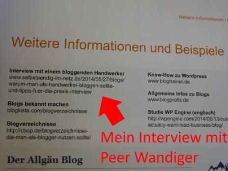 Intervie mit einem bloggenden Handwerker.