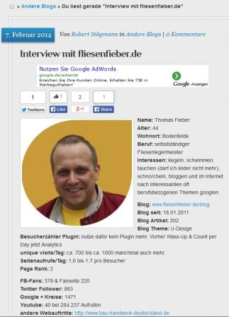 Fliesen Fieber Interview