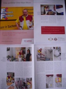 Marketingbroschüre der Firma Mewa