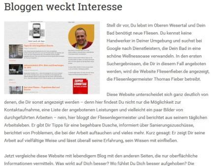 Nicole Rinne aus Österreich berichtet über den Fliesen Fieber Blog