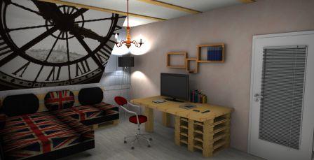 Palettenmöbel in der 3D Planung