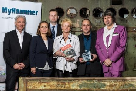 MyHammer Preisverleihung Handwerkerseite des Jahres 2014