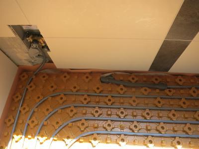 Die Regelung für die Fußbodenheizung