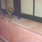 Stufenfliesen als Fensterbank Fliesen