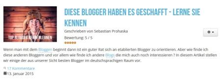 Diese Blogger haben es geschafft. Top 60 Blogs von ithelps