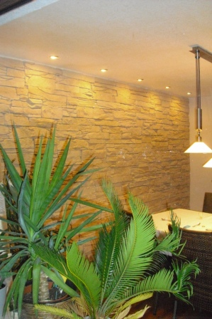 Wandgestaltung Beispiele: Wohnzimmergestaltung | Fliesen Fieber | {Fliesen steinoptik wandverkleidung badezimmer 80}