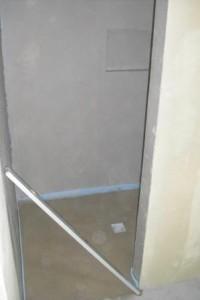 Zementestrich mit Gefälle im Duschbereich