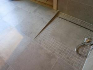 Dusche in Betonoptik