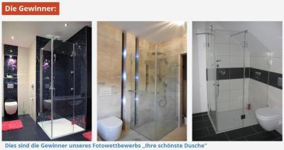 Die Gewinner der schönsten Dusche