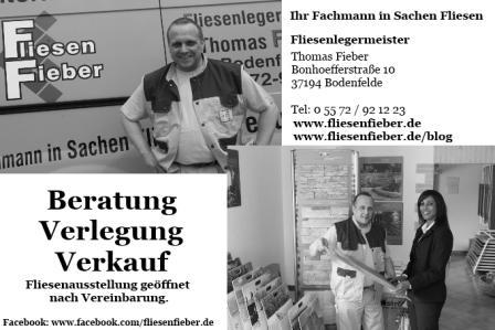 Fliesen Fieber Werbeanzeige Entwurf für den Schüttenhoff in Bodenfelde