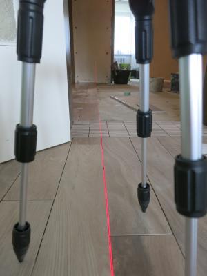 deutlicher Laserlinie vom GEOSpider