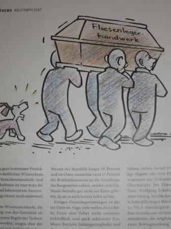 sterben die Fliesenleger aus. charikatur-marcus-frey